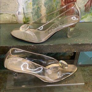 AMANO clear acrylic Cinderella shoe's